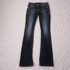 MIss Me 27 Standard Boot Jeans Bling Flap Pocket